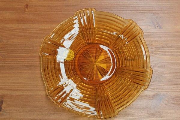Okergeel bord   Vintage Brabant