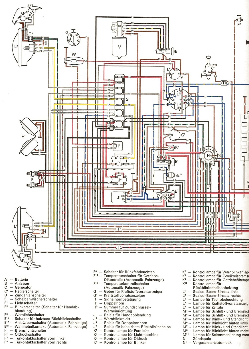 medium resolution of thesamba com ghia view topic colored wiring diagram rh thesamba com 1974 karmann ghia wiring diagram