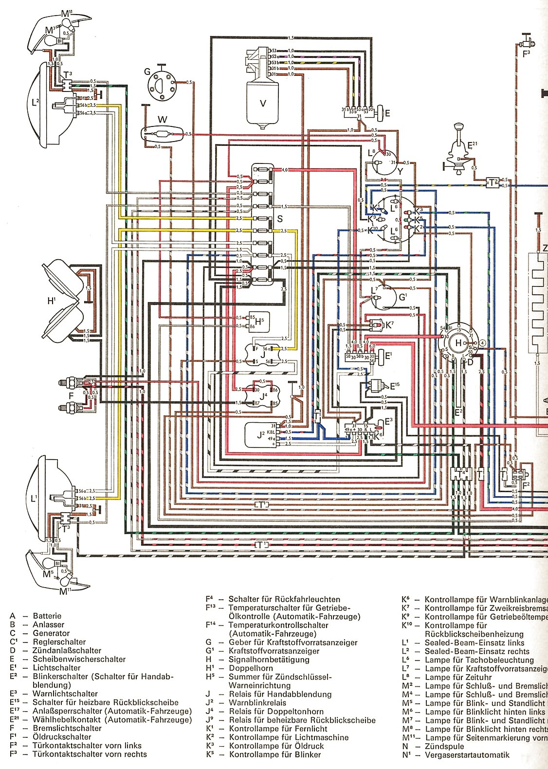 hight resolution of thesamba com ghia view topic colored wiring diagram rh thesamba com 1974 karmann ghia wiring diagram