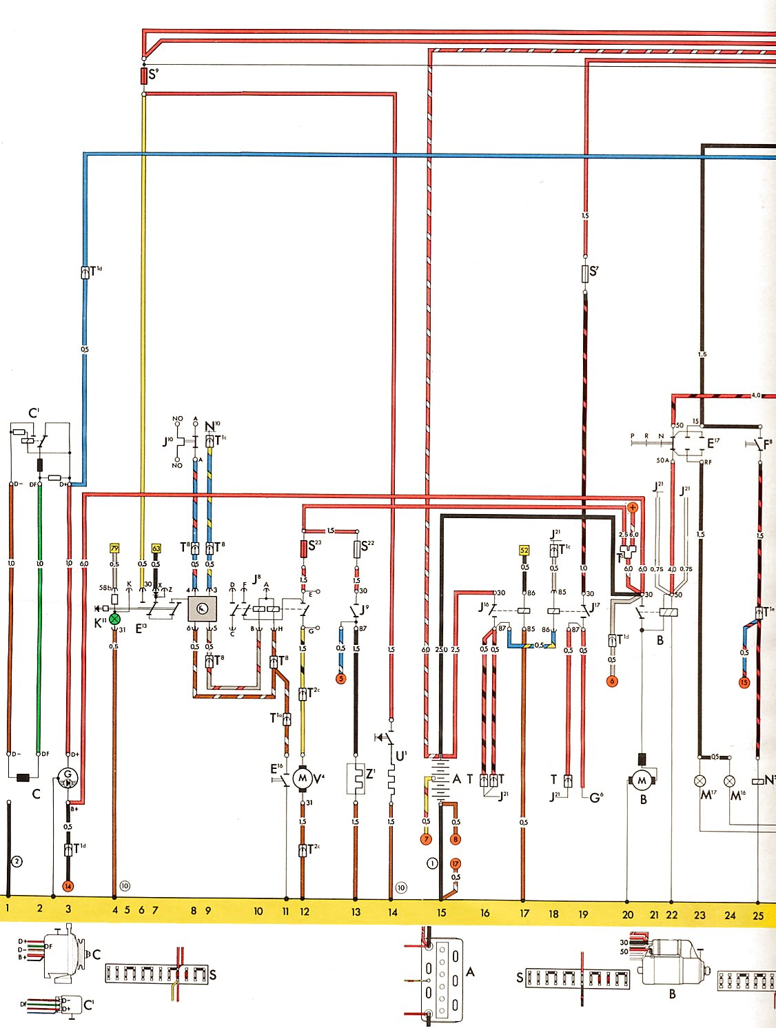 1970 vw type 2 wiring diagram 5 way switch multiple lights vintagebus usa from august 1973 1
