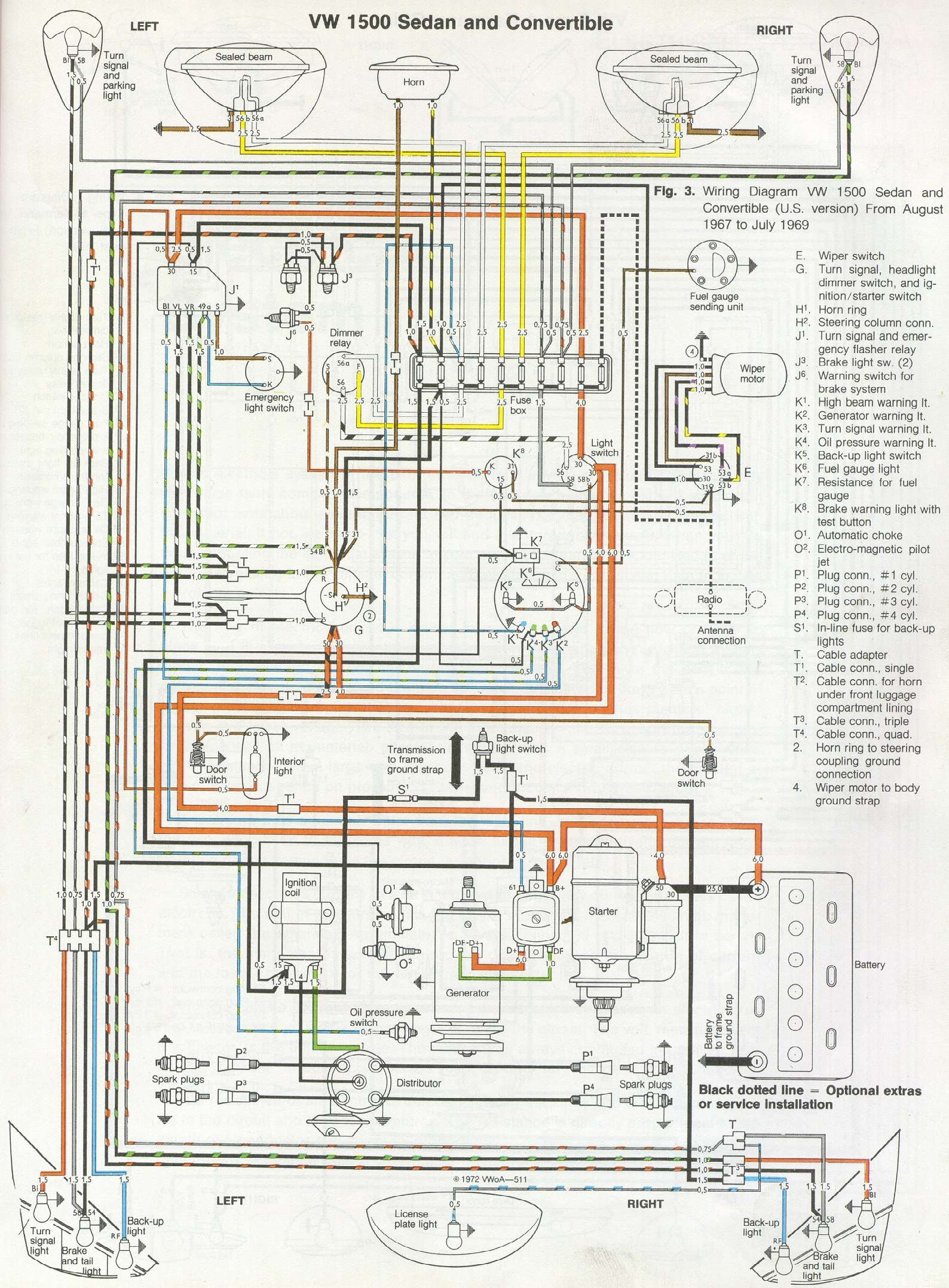 1972 volkswagen super beetle wiring diagram dual battery isolator switch fusca mania clube ce esquema elétrico do atualizado