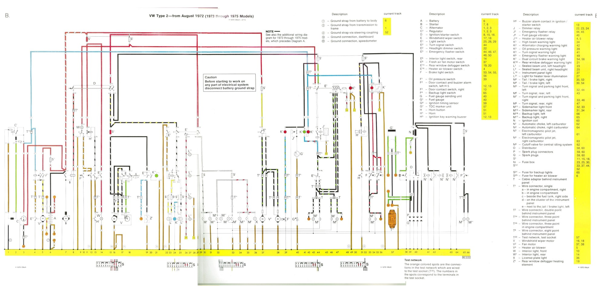 hight resolution of baywindow fusebox layout 2013 vw passat fuse schematic august 1972 1973 through 1975 models