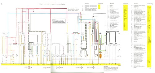 small resolution of baywindow fusebox layout 2013 vw passat fuse schematic august 1972 1973 through 1975 models
