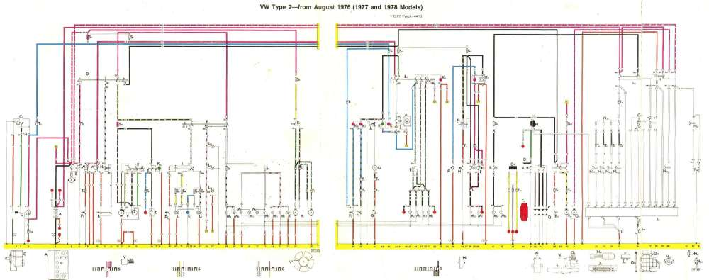 medium resolution of august 1975 august 1976 1977 and 1978 models baywindow fusebox layout