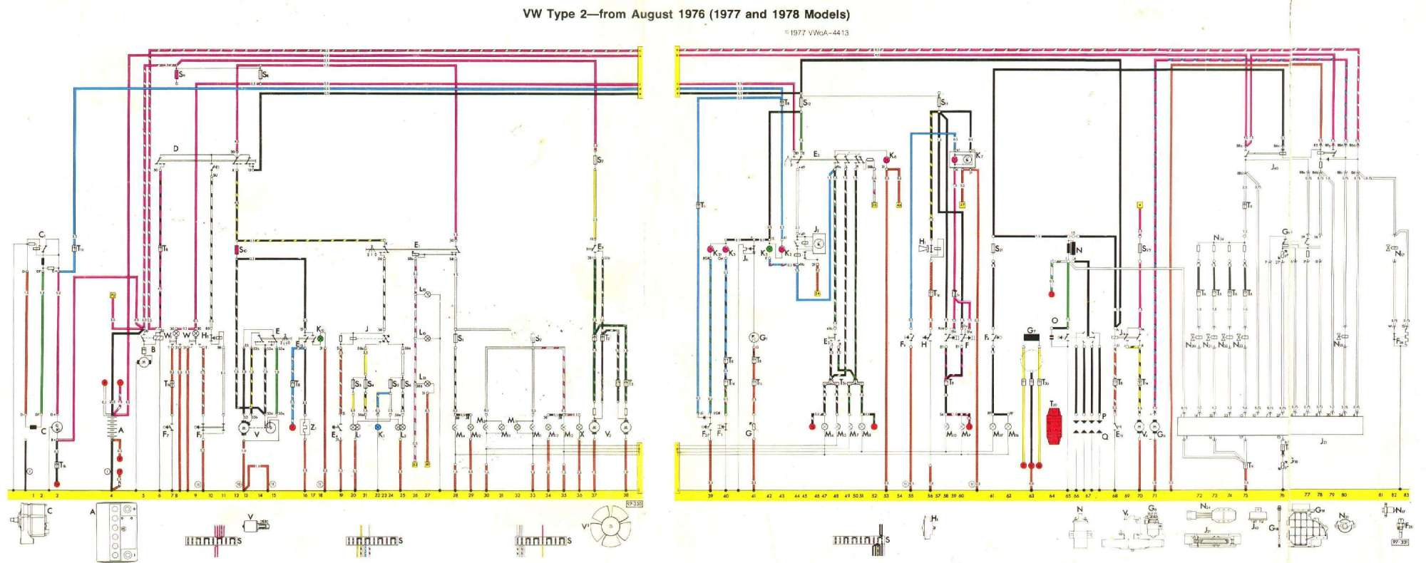 hight resolution of august 1975 august 1976 1977 and 1978 models baywindow fusebox layout