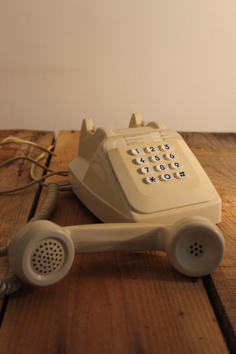 Téléphone SOCOTEL Ivoire à clavier vintage