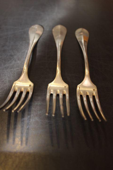 fourchettes en métal argenté orfèvre Boulenger