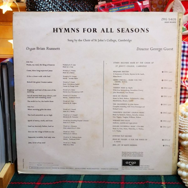 Hymns for All Seasons by the Choir of St. John's College Cambridge