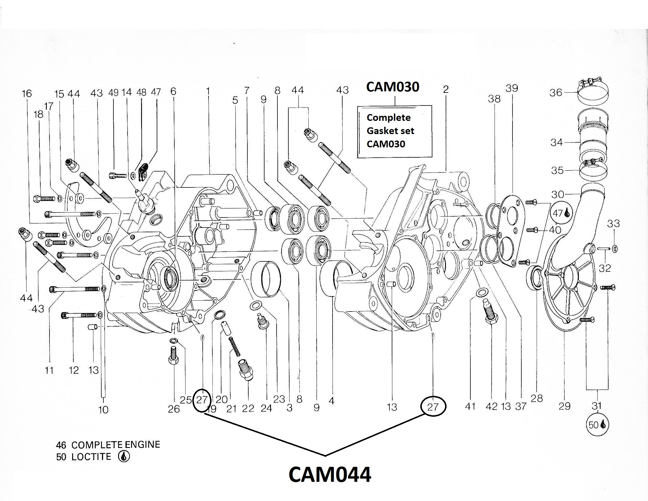 Cam044 Oil Injection Transfert O Ring