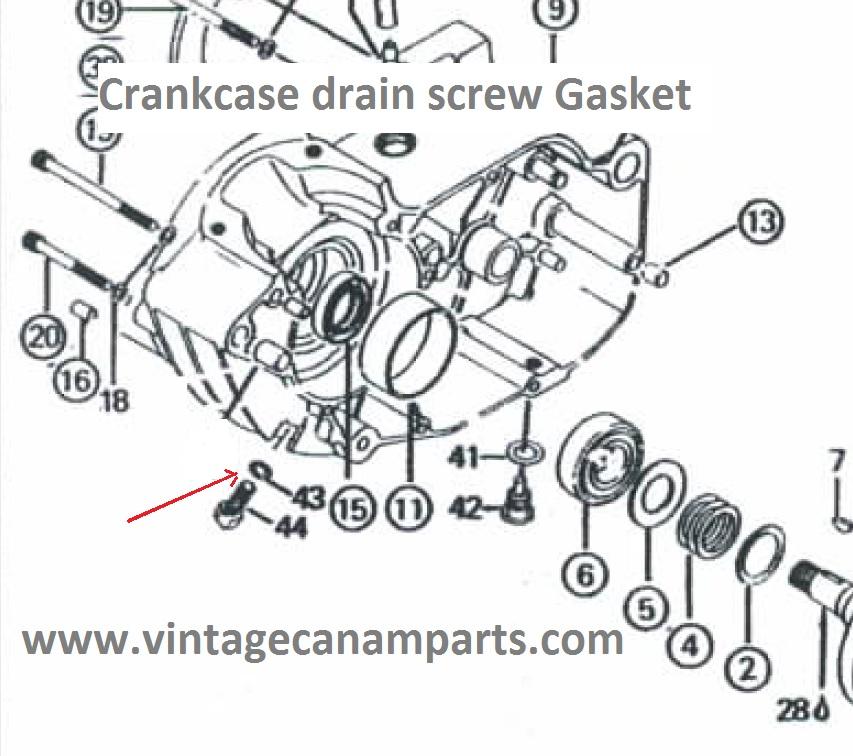 CAM051B Crankcase drain screw gasket 125cc,175cc,250cc