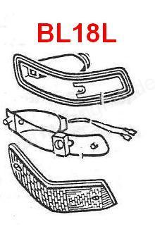 Karmann Ghia 1 pair lense,CLEAR , left and right side