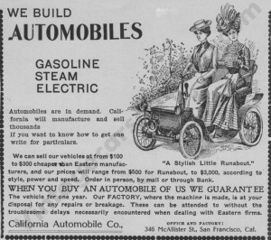 1902 California Advertisement