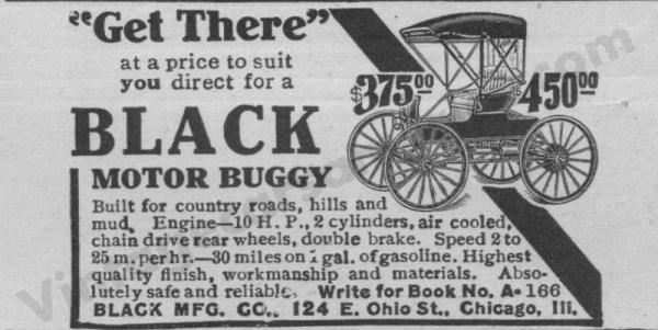 1908 Black Advertisement