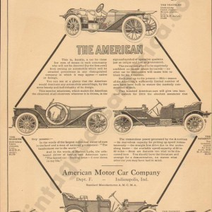 1909 American Underslung Advertisement