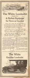 1910 White Advertisement