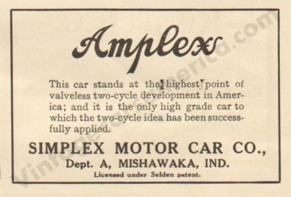 1911 Amplex Advertisement