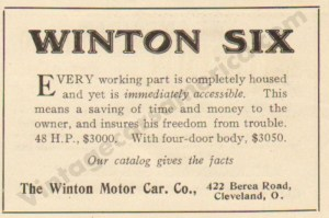 1911 Winton Advertisement