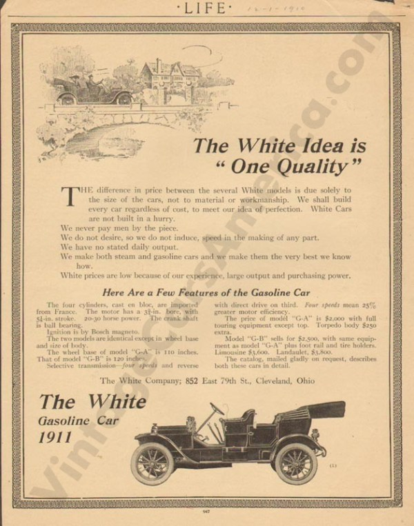 12/1/1910 White Advertisement