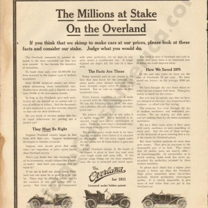 1911 Overland Advertisement #2