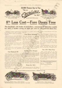 1911 Overland Advertisement #4