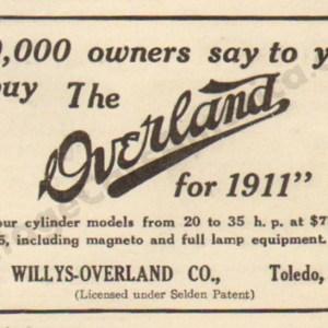 1911 Overland Advertisement #6