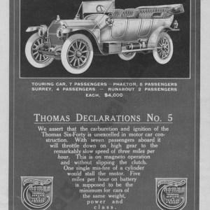 1912 Thomas Advertisement