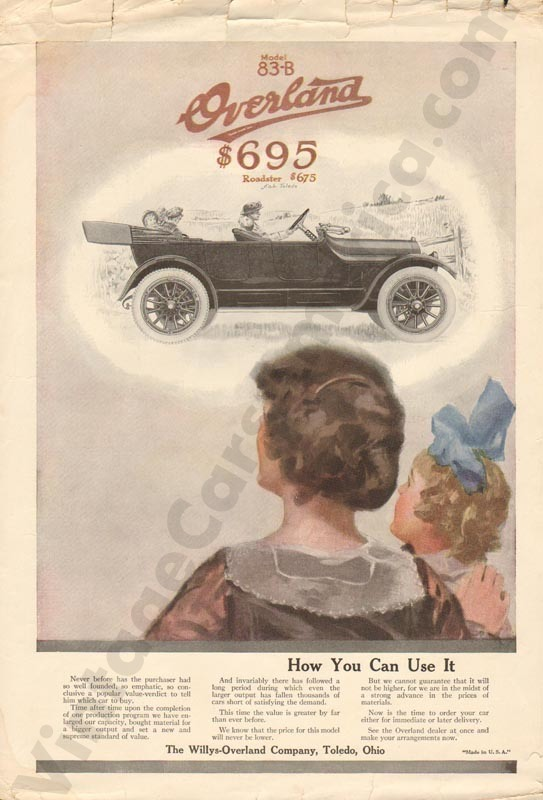 1916 Overland Advertisement #1