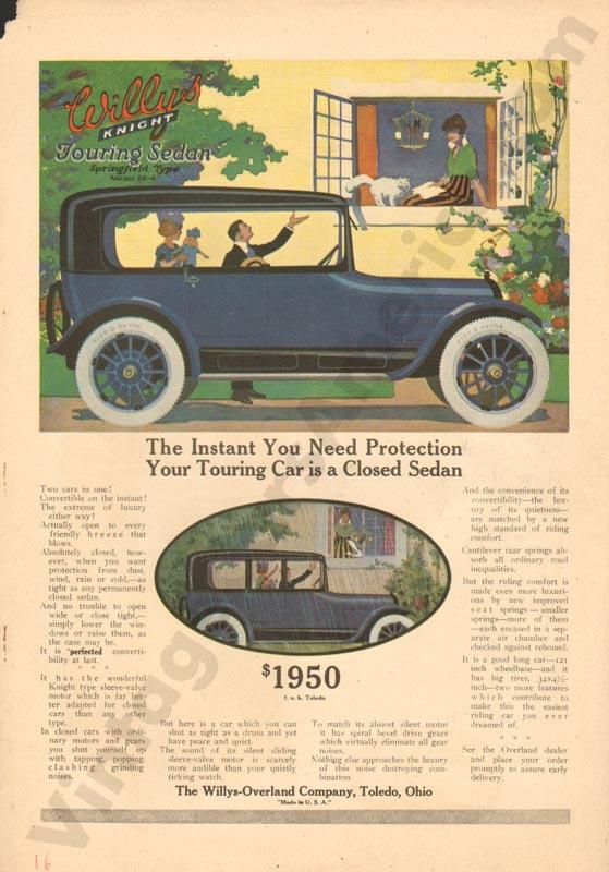 1916 Overland Advertisement #4