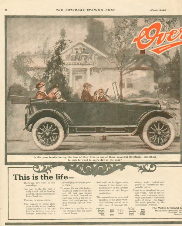 1917 Overland Advertisement #6