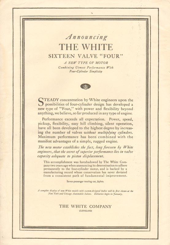 1917 White Advertisement #1