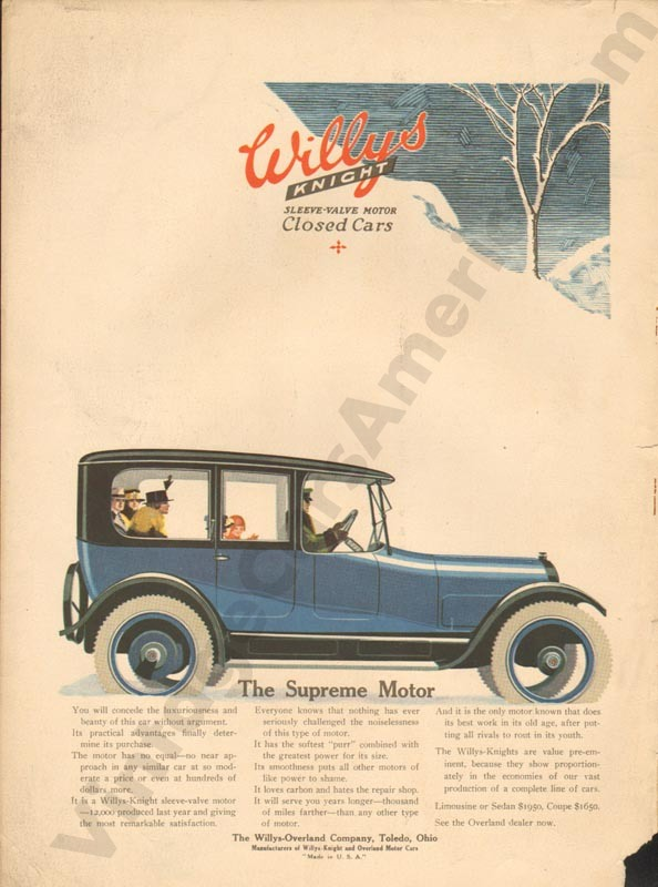 1917 Overland Advertisement #7