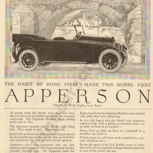 1919 Apperson Advertisement