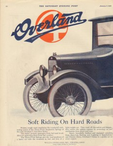 1920 Overland Advertisement #3