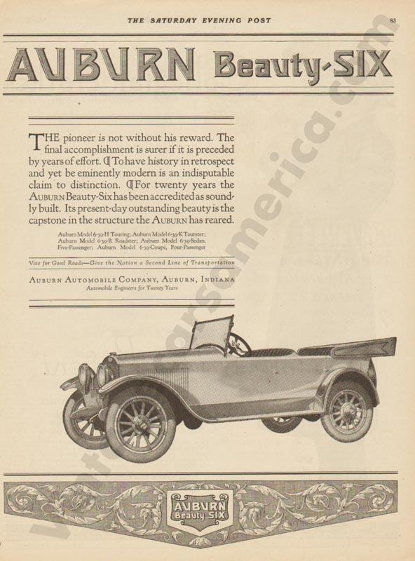 1920 Auburn Advertisement