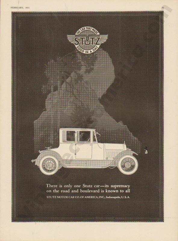 1921 Stutz Advertisement #2