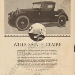 1921 Wills Saint Claire Advertisement #1