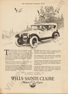 1923 Wills Saint Claire Advertisement #2