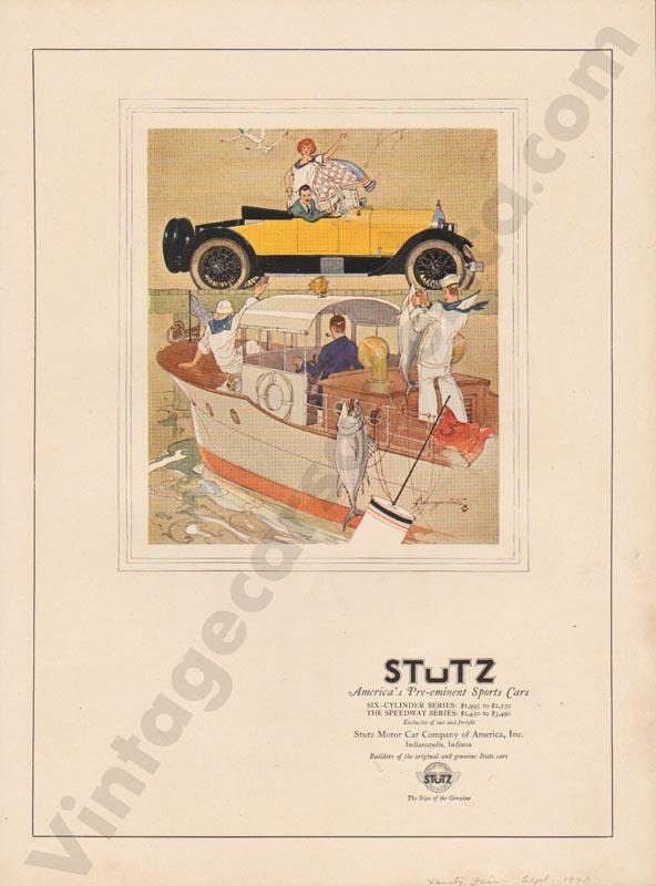 1923 Stutz Advertisement