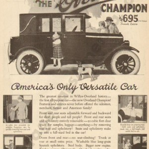 1923 Overland Advertisement