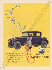 1925 Wills Saint Claire Advertisement #1