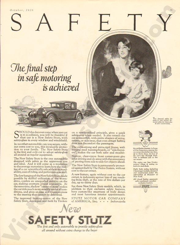 1926 Stutz Advertisement #4