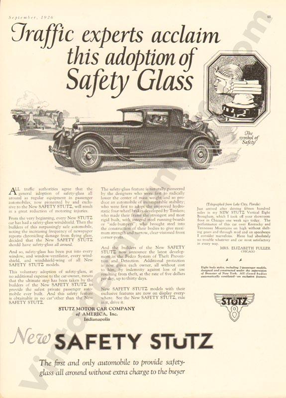 1926 Stutz Advertisement #7