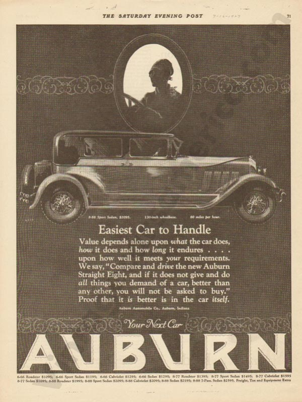 1927 Auburn Advertisement #32