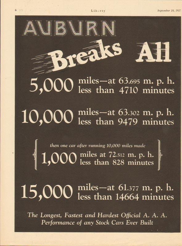 1927 Auburn Advertisement #5