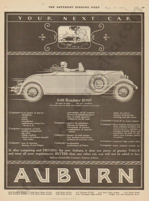 1927 Auburn Advertisement #28