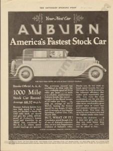 1927 Auburn Advertisement #30