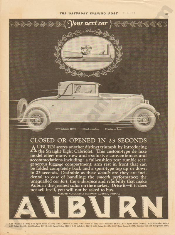 1927 Auburn Advertisement #34