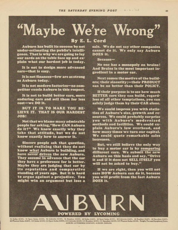 1928 Auburn Advertisement #19