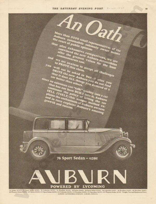 1928 Auburn Advertisement #3