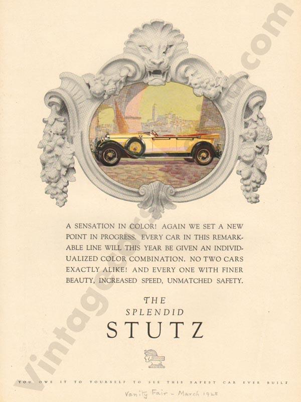 1928 Stutz Advertisement #3